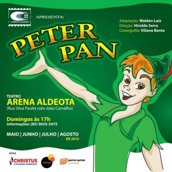 Uma viagem ao clássico mundo de Peter Pan! 01 ingresso para o espetáculo no Teatro do Colégio Christus de R$20 por R$8,99