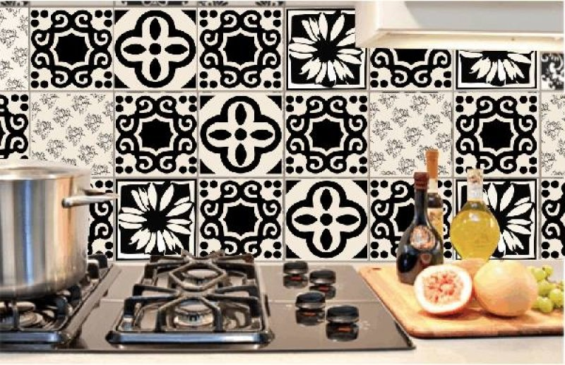 Casa Criativa  Kit azulejo com 32 peças adesivas 15x15cm  fortaleza  Barat # Adesivo Para Azulejo De Cozinha Pode Molhar