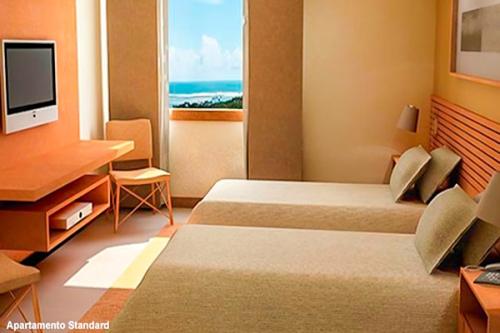 2 diárias (de domingo a quarta) em Apartamento Standard para 2 pessoas  e 1 criança de R$600 por R$349