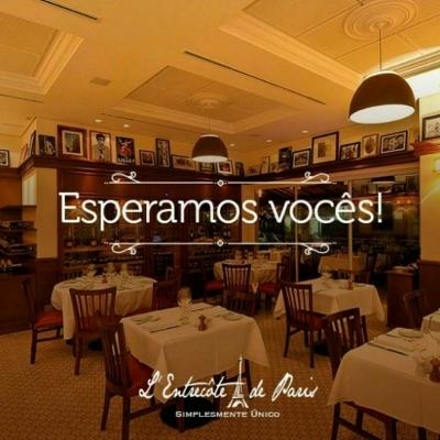 Sinta-se em Paris no L'Entrecôte de Paris Restaurante Francês! Entrada, Prato Principal e Sobremesa para 2 pessoas por R$109,90