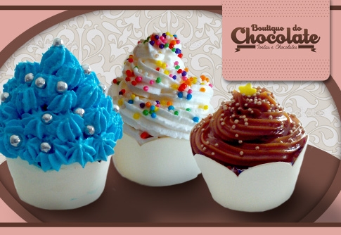 50 mini cupcakes na Boutique do Chocolate