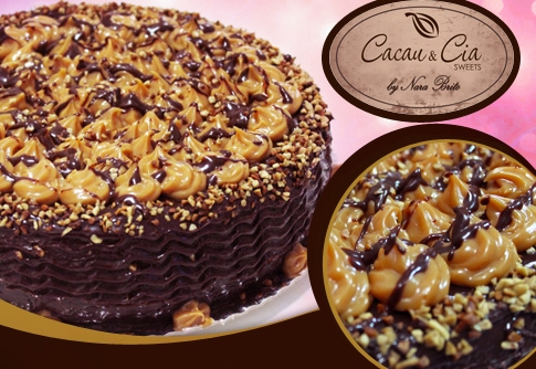 Torta Brownie na Cacau & Cia Sweets