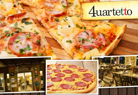 Casquinha de pizza + pizza no 4uartetto