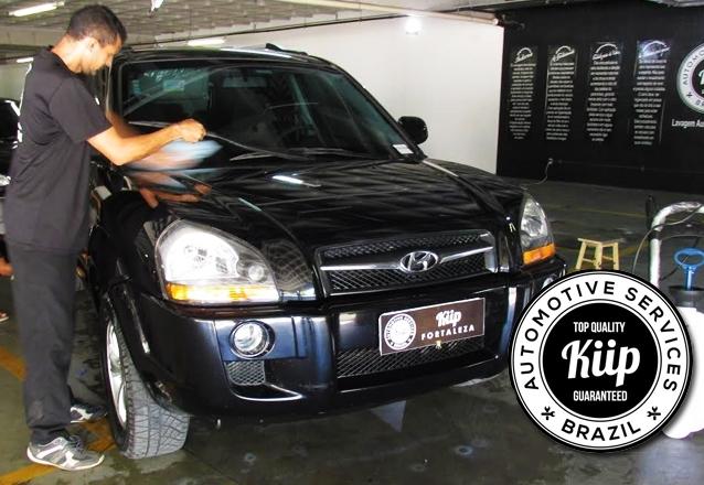 Lavagem + Aspiração + Gel de pneu + Revitalização + Higienização