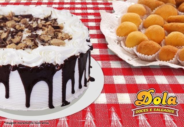 Torta doce e salgada para 40 pessoas + Salgados + Docinhos + Refri