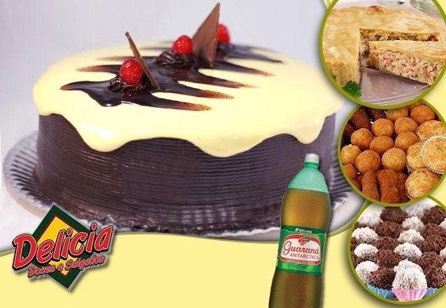 Torta Doce e Salgada + 400 Salgados + 100 Docinhos + Refri
