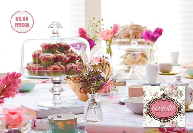 Evento para 10 pessoas na Confeitte Casa de Chá