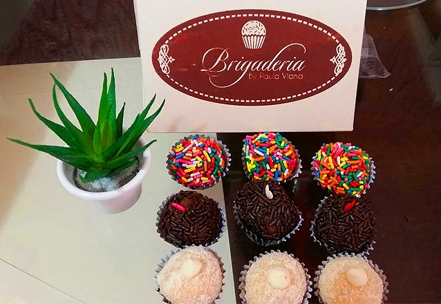 100 doces finos de brigadeiro e granulados