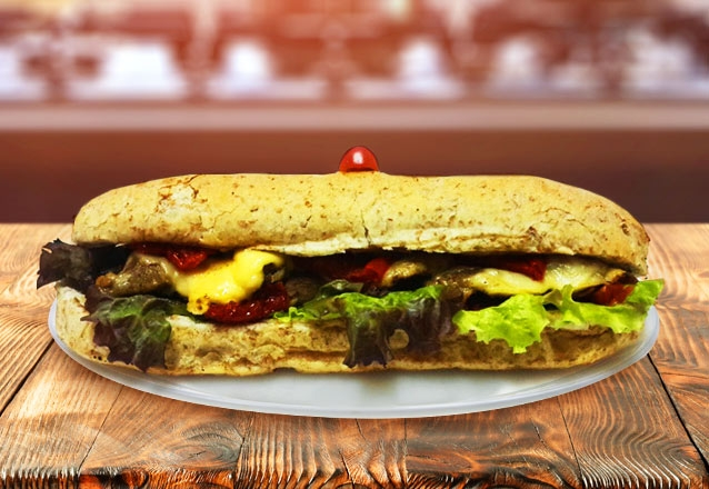 Sanduíche de Frango Light ou Steak + Suco de Goiaba