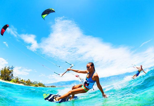 3h de Aula de Kite Surf para 1 pessoa + Ida e volta