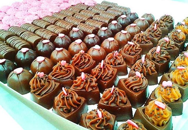 Kit com 130 chocolates