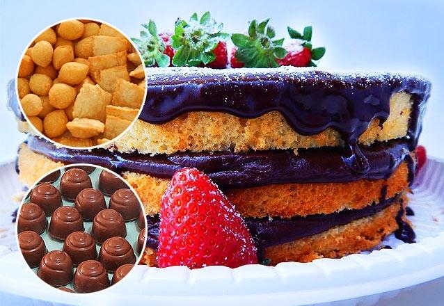 100 Salgados + 01 Torta Naked Cake + 50 Chocolates Nobres