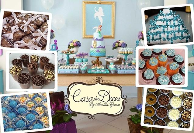 160 doces variados com confeitos, fitinhas e detalhes no tema da festa