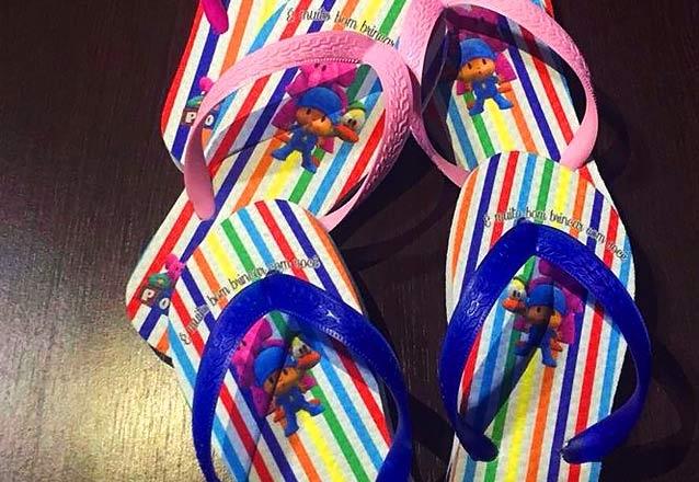 6da7ee512 Sua festa com os melhores diferenciais! 20 pares de chinelo personalizado  em sublimação de R