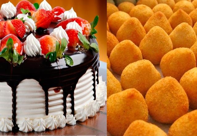 Bolo Doces E Salgados: Torta Doce Para 40 Pessoas + 100