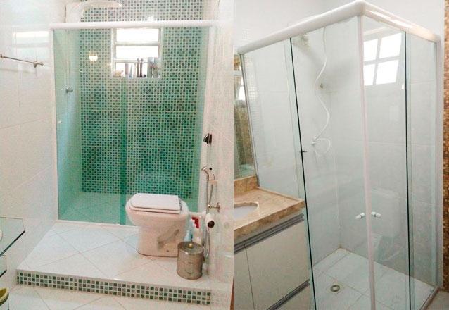 Box Frontal para banheiro (1,15m x 1,9m) + Cantoneira