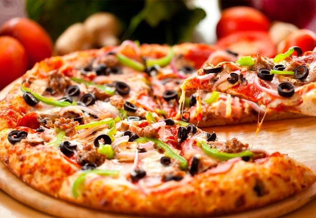 Pizza Grande de 8 fatias (vários sabores)